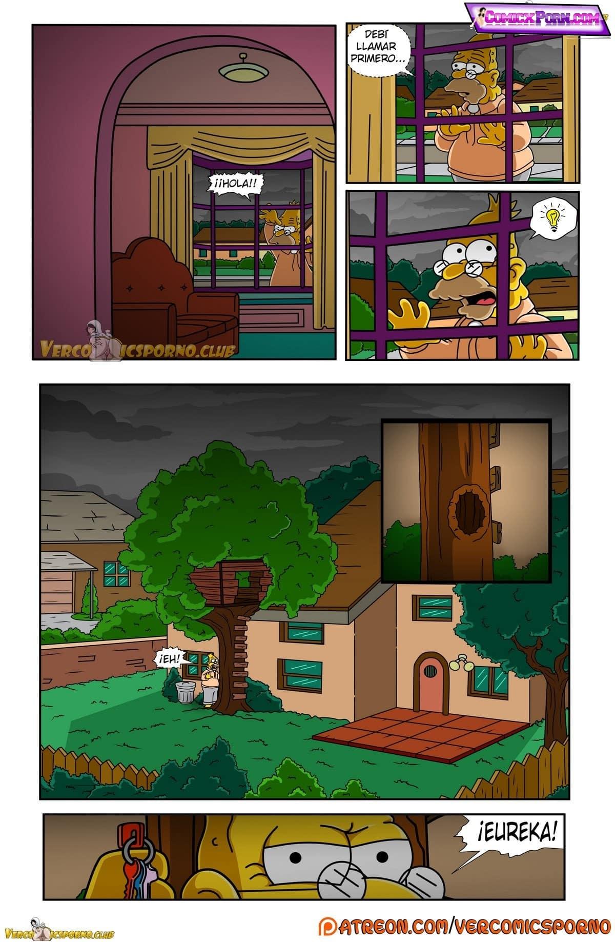 Comic de los simpson xxx